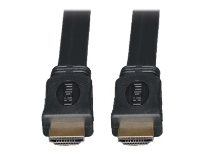 Tripp Lite Ultra HD 4Kx2K High Speed HDMI M M Digital Video Flat Cable with Audio, Black, 10ft, P568-010-FL, 7817339, Cables