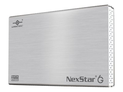 Vantec NexStar 6G 2.5 SATA 6Gb s to USB 3.0 External Hard Drive Enclosure - Silver