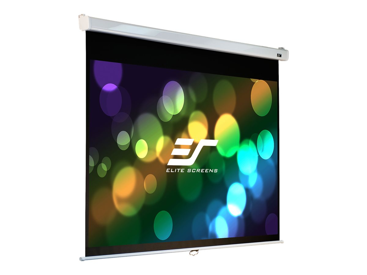 Elite Manual Pull-Down Projection Screen with SRM, MaxWhite FG, 16:9, 120, M120HSR-PRO, 11238989, Projector Screens