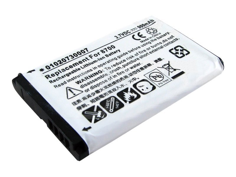 BTI Battery, Lithium-Ion, 3.7 Volts, 900mAh, for RIM, PDA-BB-8700, 8442920, Batteries - Other
