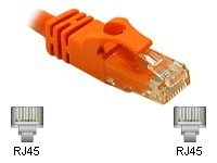 C2G Cat6 550MHz Snagless Crossover Cable, Orange, 7ft, 27892, 6060725, Cables