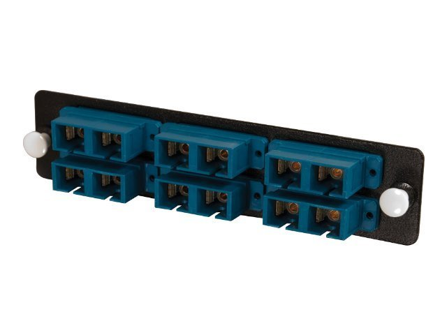 C2G Q-Series 12-Strand, SC Duplex, Zirconia Insert, SM, Blue SC Adapter Panel, 31107, 16329960, Patch Panels