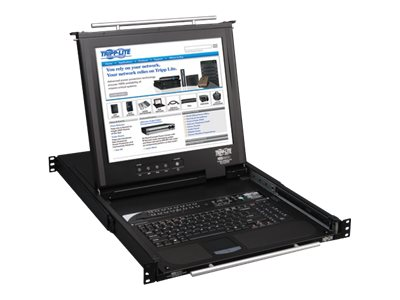 Tripp Lite 1U Rackmount Console KVM Switch, 16-Ports, 17 LCD, IP Remote Access, B020-016-17-IP