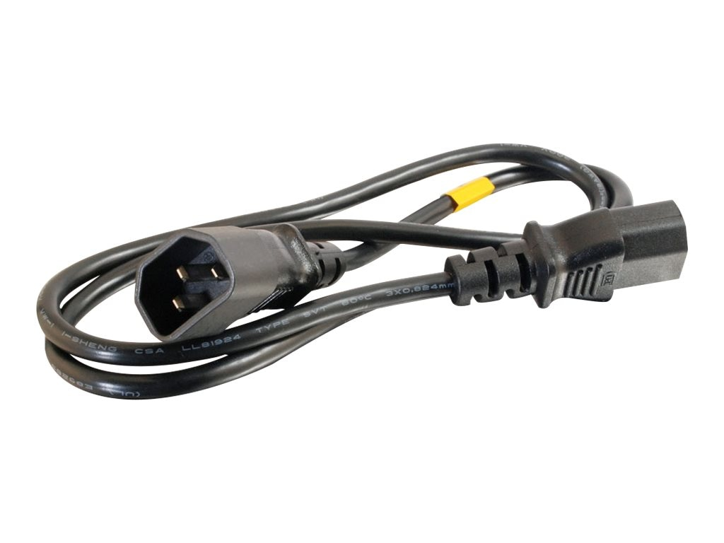 C2G Computer Power Cord Extension, 3ft, 03120, 5881943, Power Cords