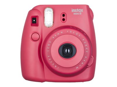 Fujifilm Instax Mini 8 Instant Film Camera, Raspberry, 16443917, 21729423, Cameras - Digital - Point & Shoot
