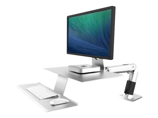 Ergotron WorkFit-A with Suspended Keyboard, Platinum