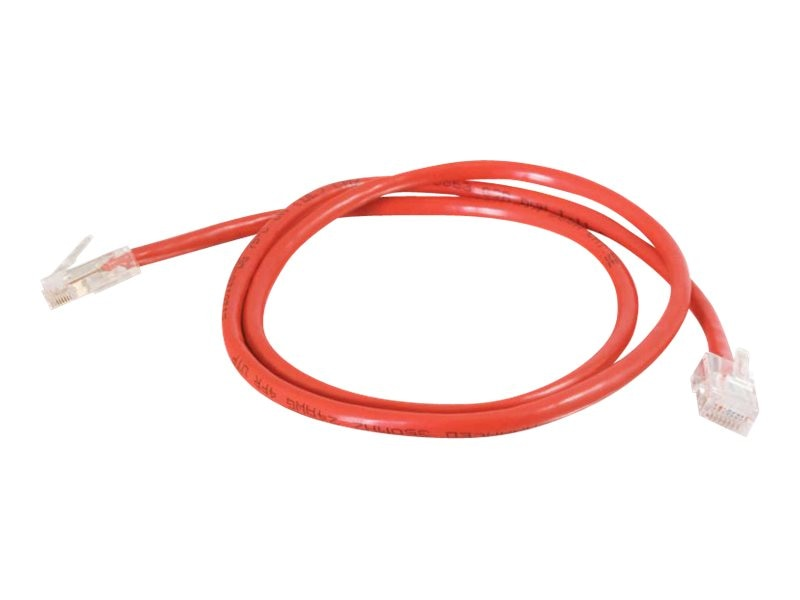 C2G Cat5e Non-Booted Unshielded (UTP) Network Patch Cable - Red, 8ft