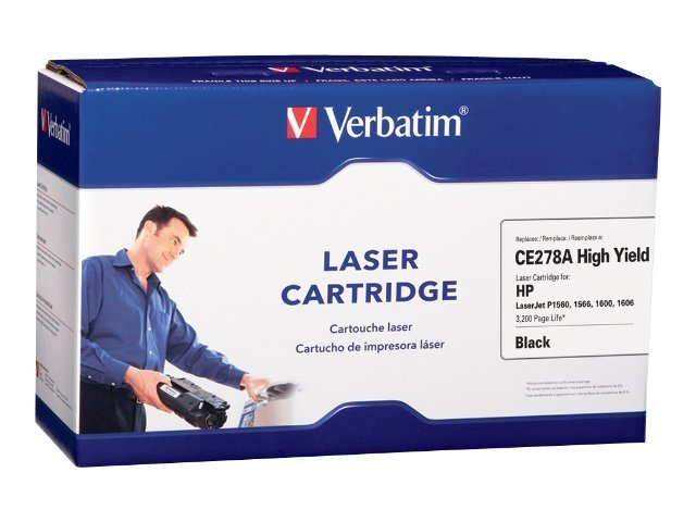 Verbatim CE278A Black Toner Cartridge for HP LaserJet P1560, 1566 & 1600, 97702