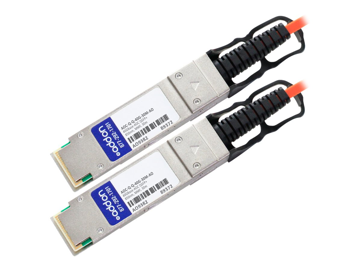 ACP-EP 40GBase-AOC QSFP+ to QSFP+ Direct Attach Cable, 30m