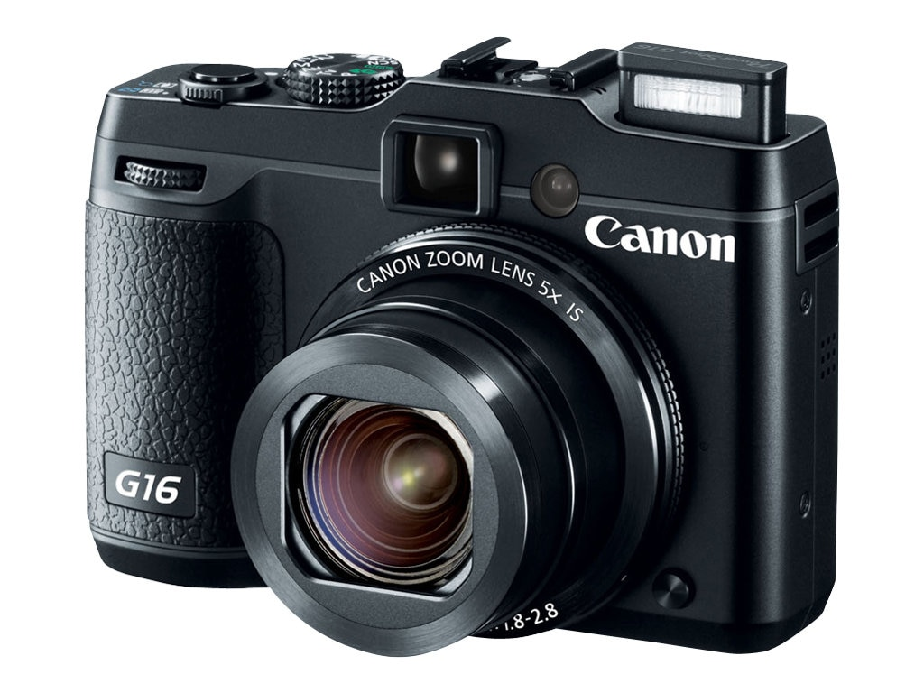 Canon Powershot G16 Camera, 12.1MP, Black, 8406B001