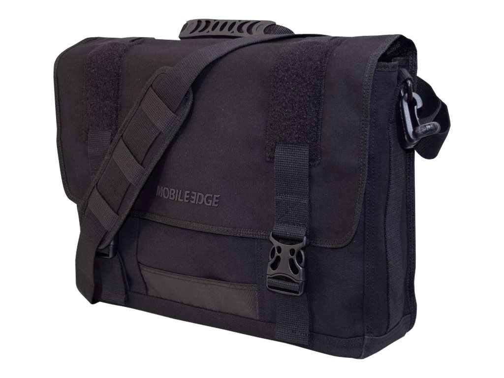 Mobile Edge Eco-Friendly Canvas Messenger, Black, MECME1, 9837915, Carrying Cases - Notebook