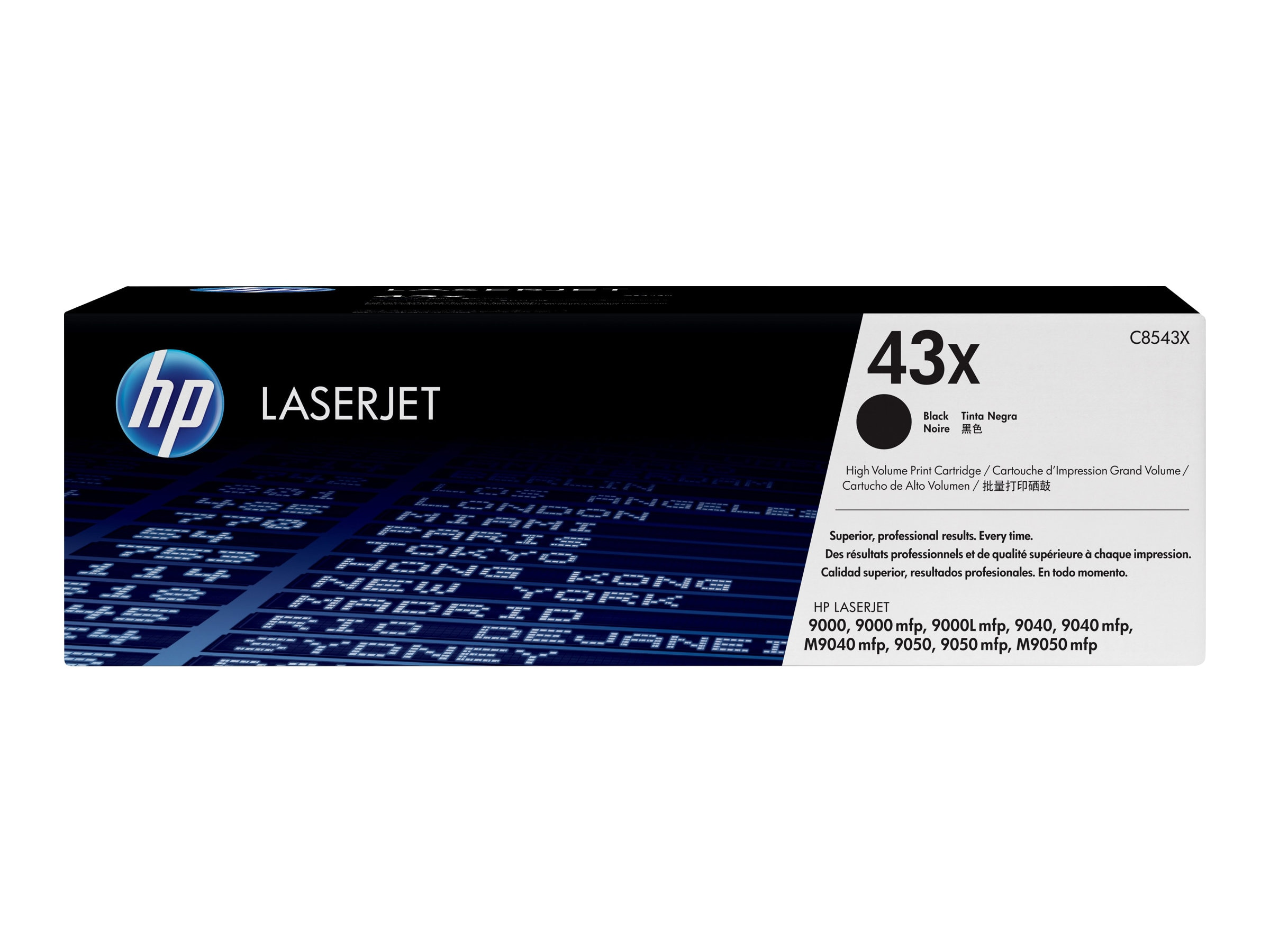 HP 43X (C8543X) High Yield Black Original LaserJet Toner Cartridge for HP LaserJet 9000, 9040 & 9050