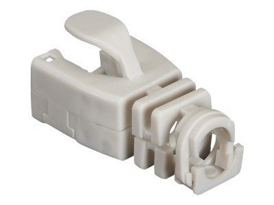 Black Box Snap-On Patch Cable Boot, Gray, 50-Pack, FMT721-SO-50PAK
