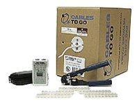 C2G CAT 5e Network Installation Kit with 1000ft Cable and Connectors, 22722, 246908, Tools & Hardware