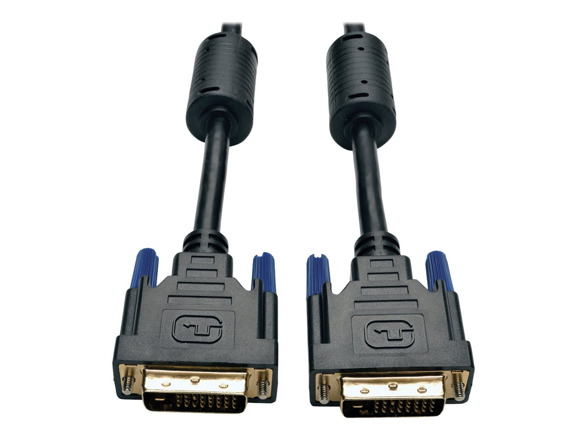 Tripp Lite DVI Dual Link M M Digital TMDS Monitor Cable, Black, 10ft, P560-010, 4944762, Cables