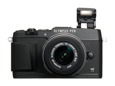 Olympus E-P5 PEN Mirrorless Digital Camera, Black, V204050BU000
