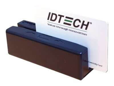 ID Tech SecureMag MSR Track 1 2, USB KEYBoard, Encryption Cable, Black
