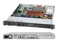 Supermicro 1U Rackmount Chassis, 4xHS 2.5 SAS SATA HDD Trays, 560W PSU, Black, CSE-111T-560CB, 9340781, Cases - Systems/Servers