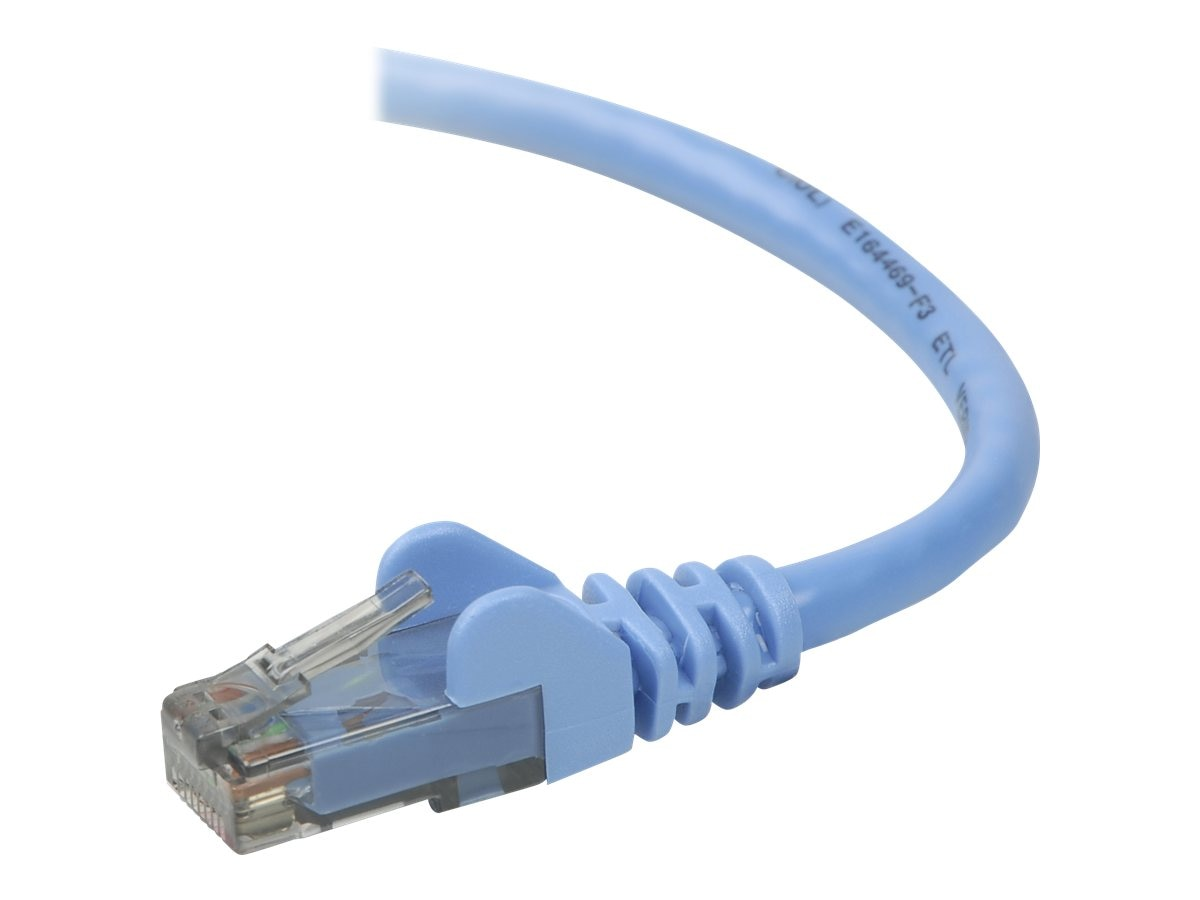 Belkin Cat6 UTP Patch Cable, Blue, Snagless, 40ft