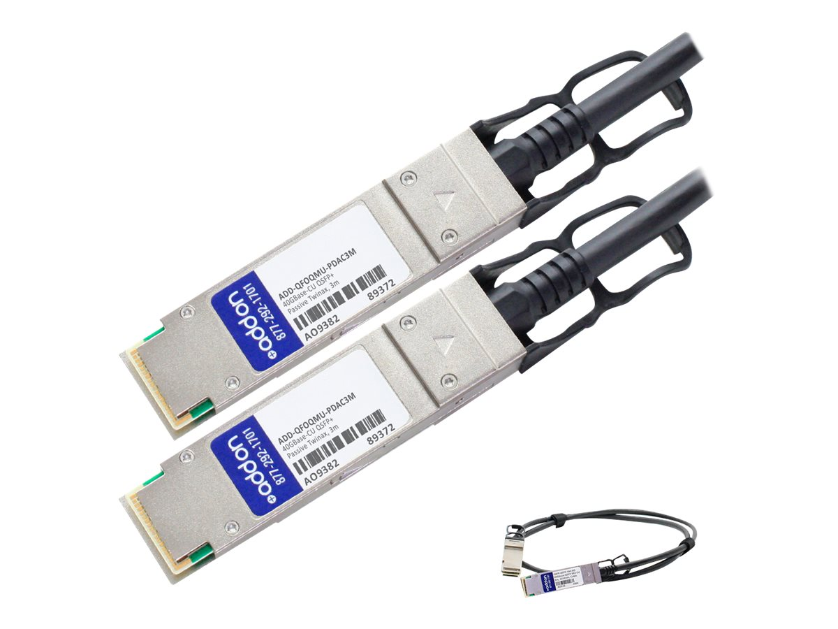 ACP-EP 40GBase-CU QSFP+ to QSFP+ Passive Twinax Direct Attach Cable, 3m, ADD-QFOQMU-PDAC3M