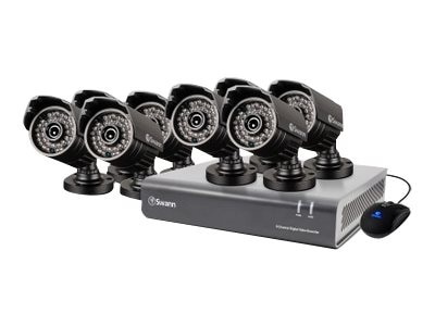 Swann 8-Channel 720p Digital Video Recorder and 8x PRO-A850 Cameras