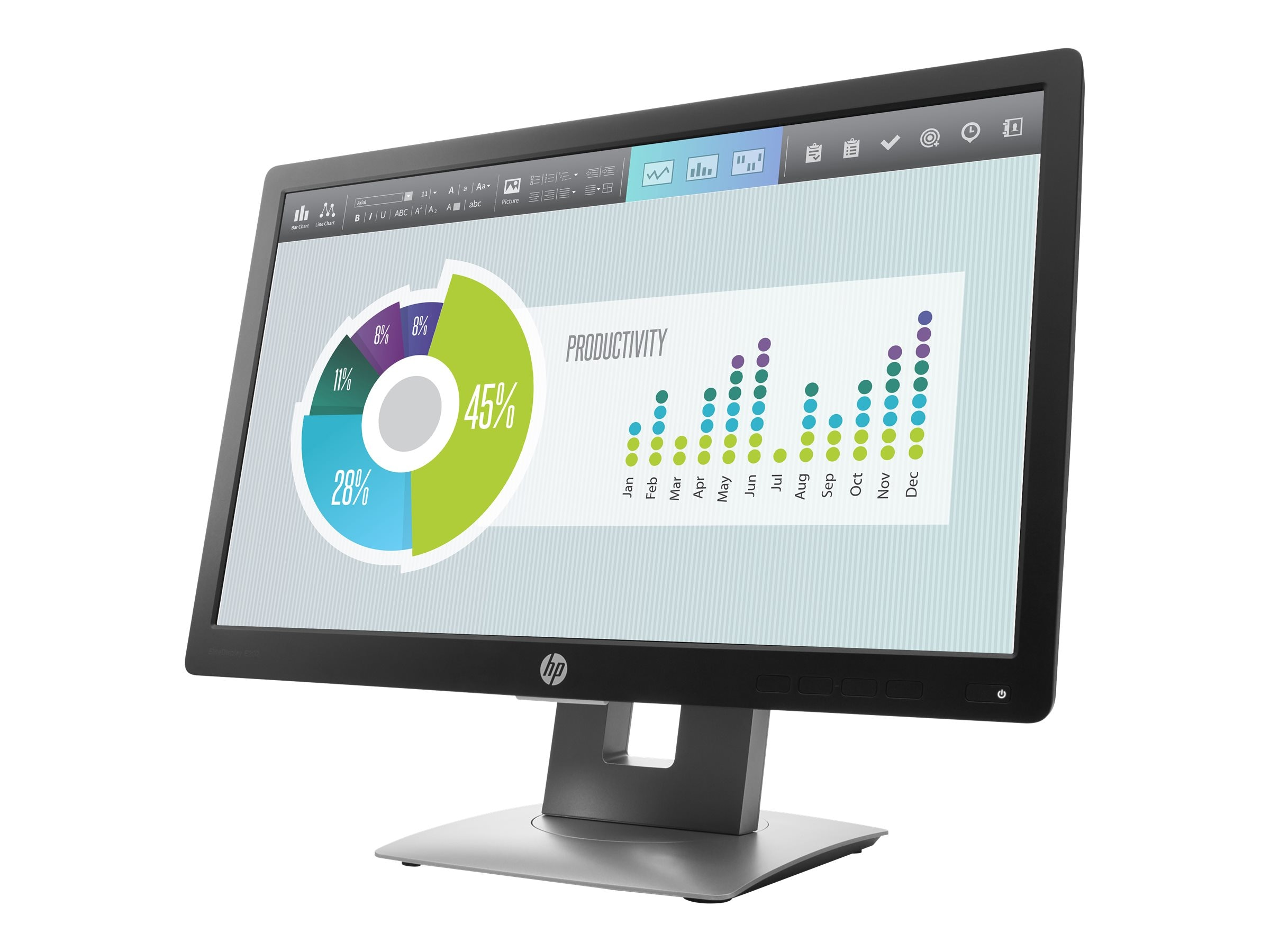 HP 20 E202 LED-LCD Monitor, Black, M1F41AA#ABA