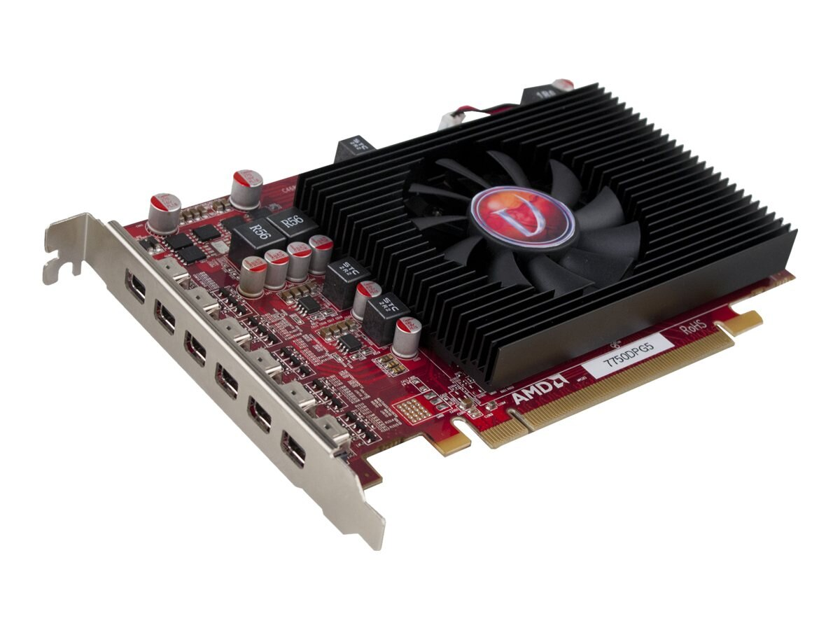 VisionTek Radeon HD 7750 PCIe x16 Graphics Card, 2GB GDDR5