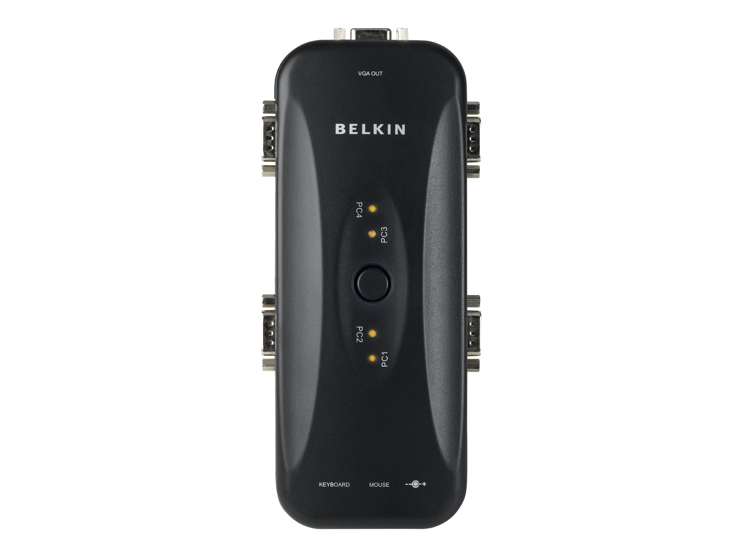 Belkin 4-Port KVM Switch with four OmniView 6ft Cables, PS 2, F1DJ104P-B, 5463311, KVM Switches