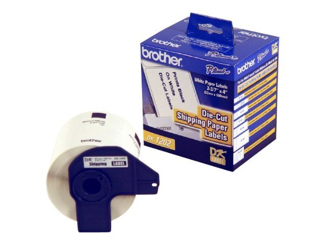 Brother 2.4 x 4 Shipping Label Roll for Brother QL-500 & QL-550 PC Label Printer (300-labels), DK1202