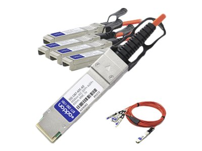 ACP-EP Dell Compatible 40GBase-AOC QSFP+ to 4xSFP+ Direct Attach Cable, 7m