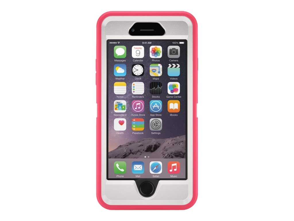 OtterBox Defender Series for iPhone 6 4.7, Neon Rose, 77-50208, 17786020, Carrying Cases - Phones/PDAs