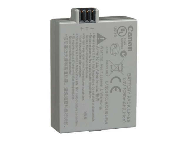 Canon Battery Pack LP-E5 1080mAh for EOS Rebel XSi Digital Camera, 3039B001, 8624029, Batteries - Camera