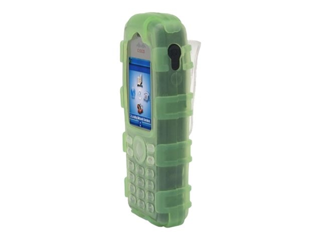 Zcover Silicone Ruggedized Dock-in-Case for Cisco 7925G 7925G-EX, Green, CI925HQG, 16579838, Carrying Cases - Phones/PDAs