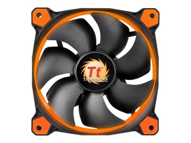 Thermaltake Riing 12 High Static Pressure LED Radiator Fan, Orange