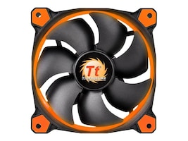 Thermaltake Riing 12 High Static Pressure LED Radiator Fan, Orange, CL-F038-PL12OR-A, 30842680, Cooling Systems/Fans
