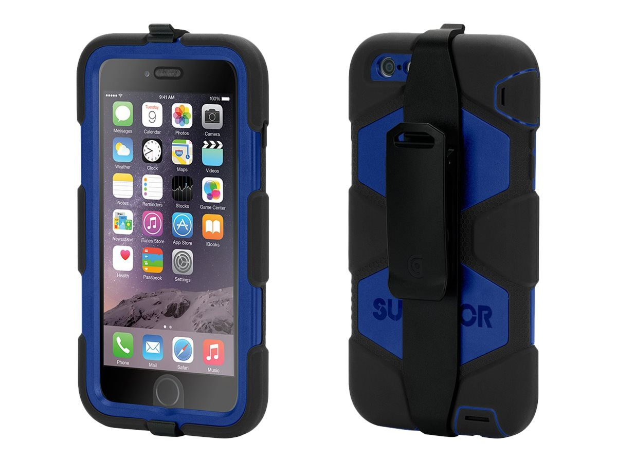Griffin Survivor All-Terrain for iPhone 6 Plus, Black Blue
