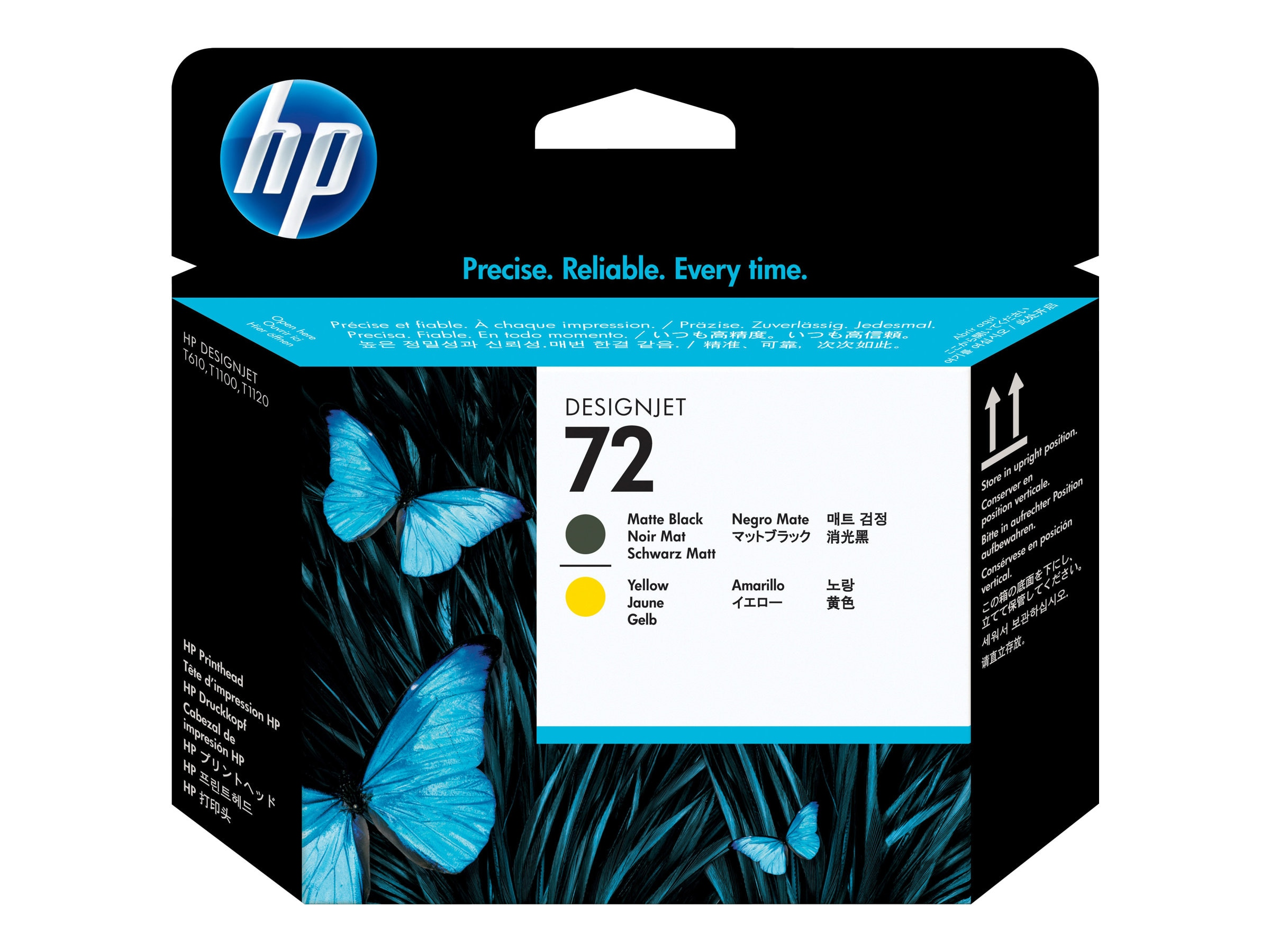 HP 72 Matte Black and Yellow Printhead, C9384A