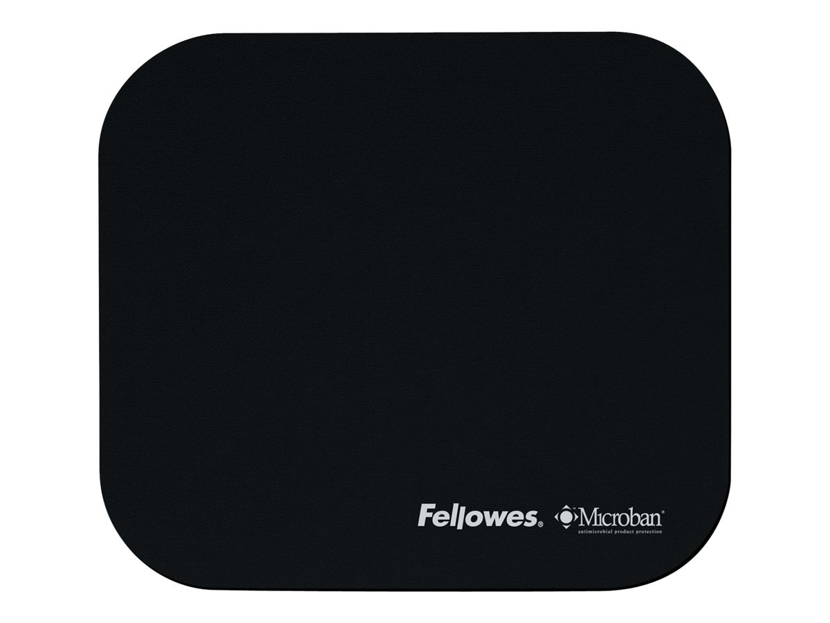 Fellowes Black Mousepad with Microban Product Protection, 5933901, 5164611, Ergonomic Products
