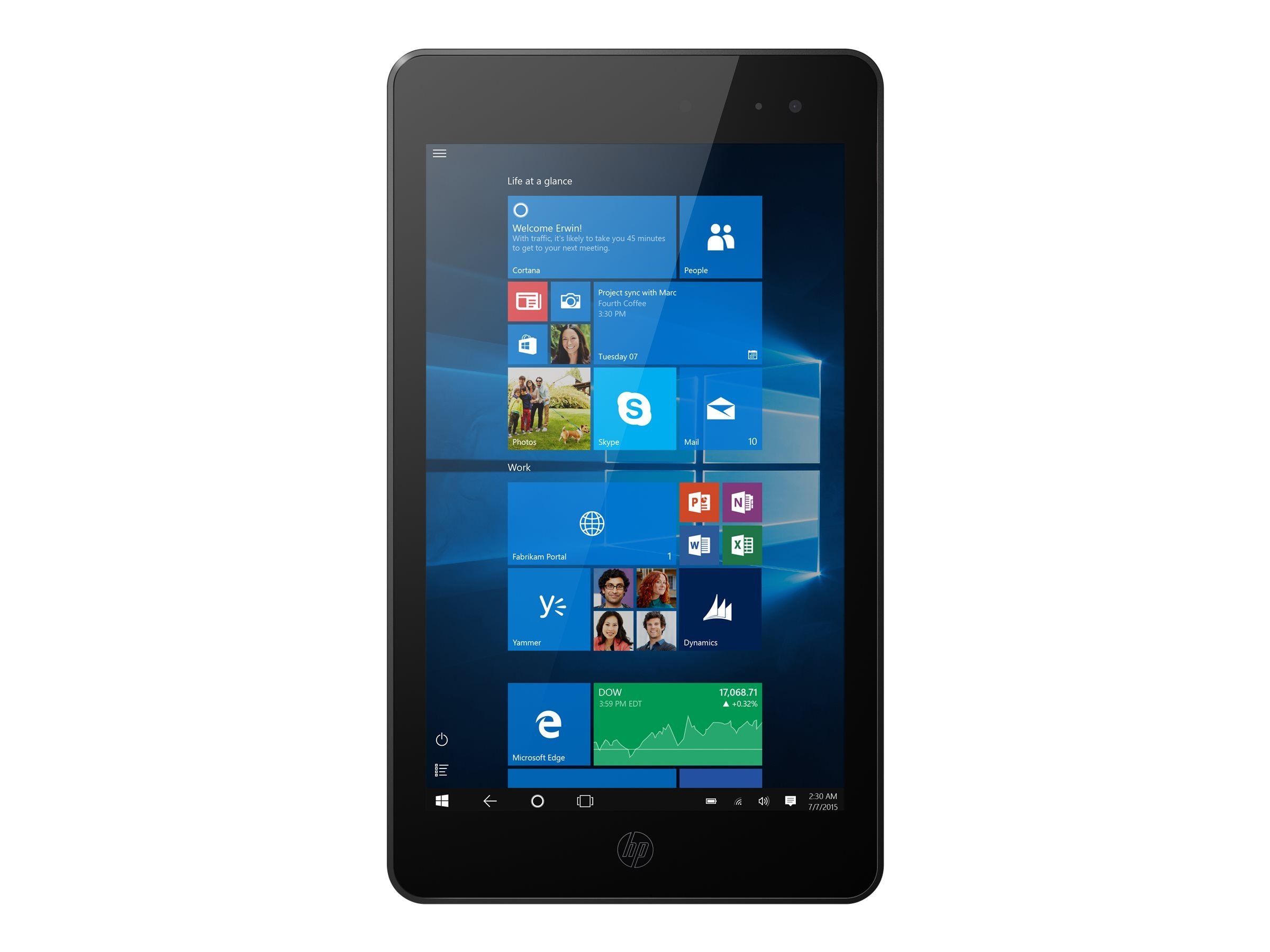 HP Tablet PC Atom 2GB 32GB ac BT 4G LTE Verizon 8 FHD W10 with Keyboard Dock, N7T28UA#ABA, 30840676, Tablets