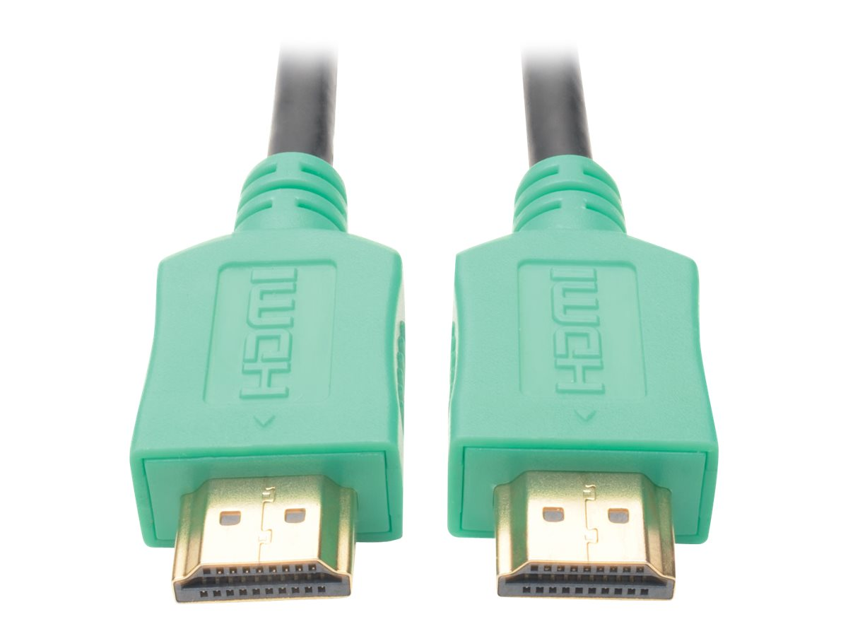 Tripp Lite High-Speed HDMI M M 4K x 2K Cable with Digital Video and Audio, Green, 3ft
