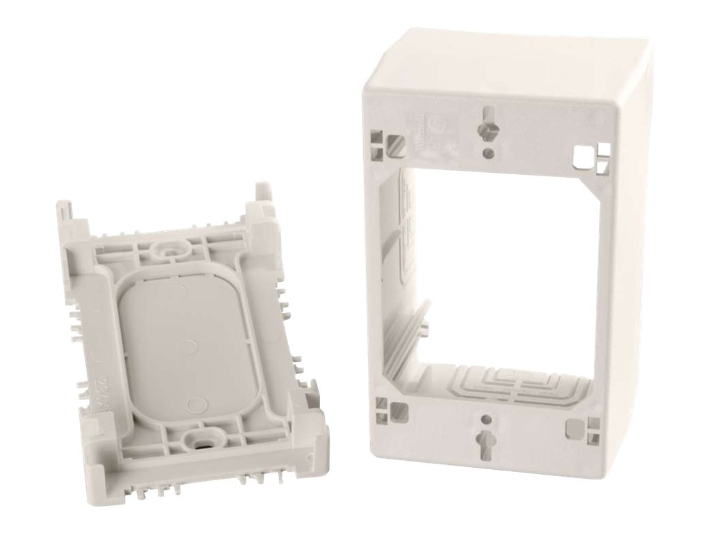 C2G Wiremold Uniduct Single Gang Extra Deep Junction Box, Fog White