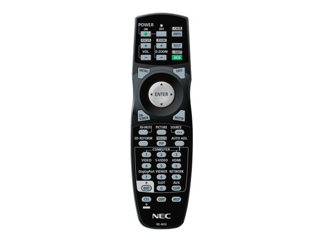 NEC Replacement Remote for NP-PX700W, NP-PX750U, NP-PX800X