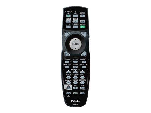 NEC Replacement Remote for NP-PX700W, NP-PX750U, NP-PX800X, RMT-PJ35, 15991724, Projector Accessories
