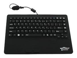 Seal Shield Seal Touch Gen 2 Silicone All-In-One Keyboard w Touchpad, Dishwasher Safe, S87P2, 12706182, Keyboards & Keypads