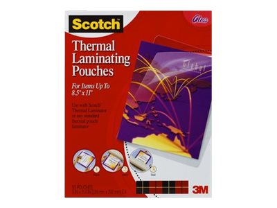 3M 9 x 11.4 Thermal Pouches, 50-Pack, TP3854-50