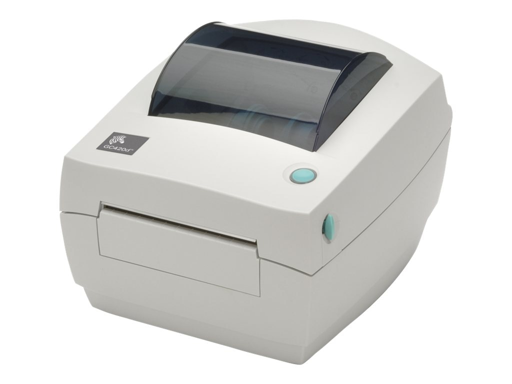 Zebra GC420 DT 203dpi USB Serial Parallel Printer w  US Cords & Peeler