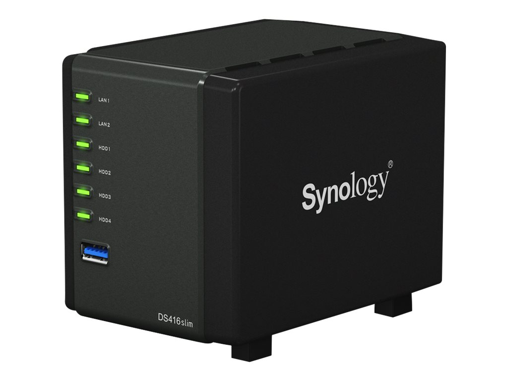 Synology DS416 Slim DiskStation NAS w  MARVELL Armada 88F6820 Dual Core, DS416SLIM