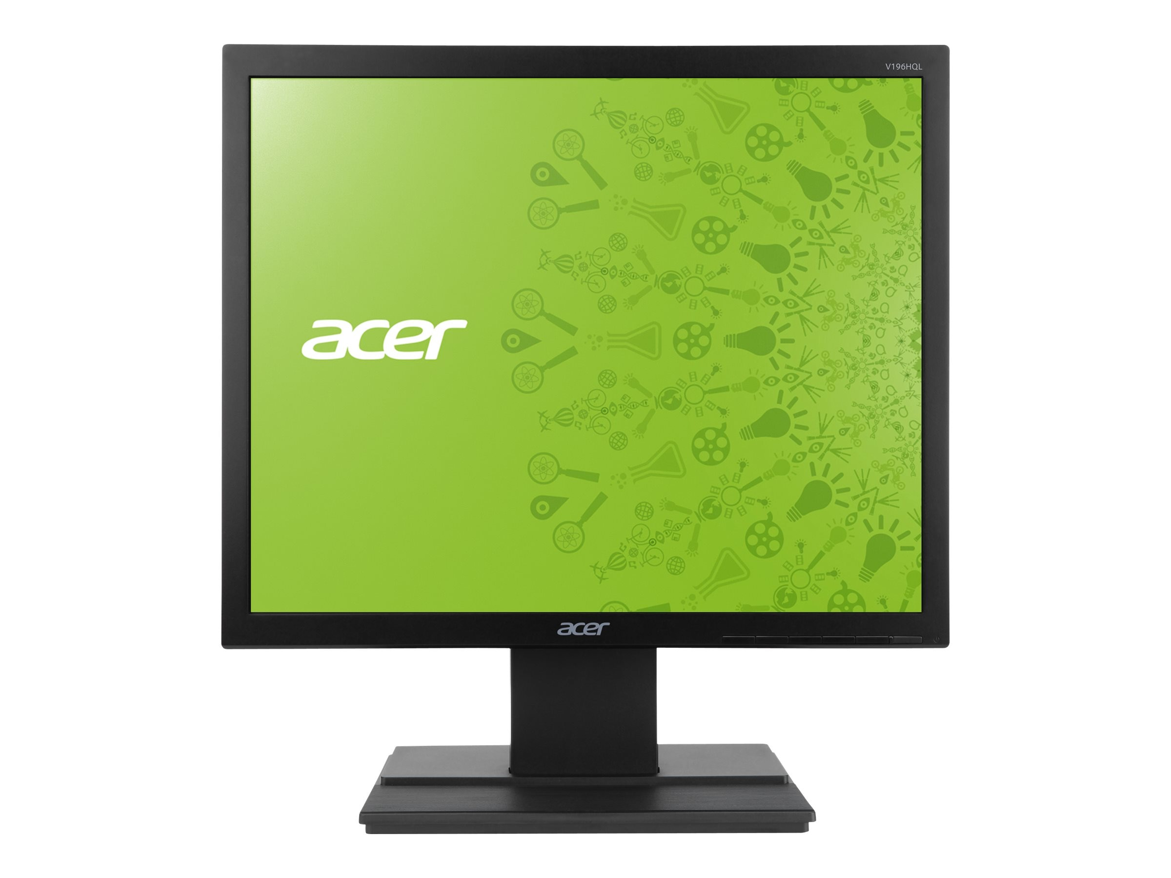Acer 18.5 V196HQL AB LED-LCD Monitor, Black, UM.XV6AA.A01, 15482938, Monitors - LED-LCD