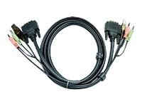 Aten DVI-D USB KVM Cable with Audio, 10ft, 2L-7D03U, 8219779, Cables