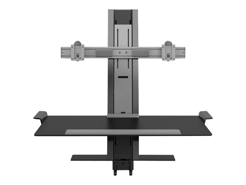Humanscale Quickstand with Sit Stand Workstation, Dual Display Support, 24w Crossbar, Large Platform
